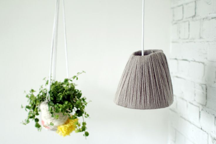 bedroom yarn lampshade