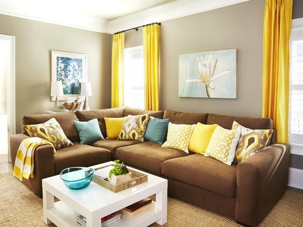 The Way To Brighten Up A Room With Yellow Curtains Brown Yellow House Design on blue house brown, light house brown, dark house brown, yellow bathroom brown,