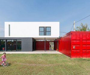 A Modern Container Home Blended Into A Cozy Suburban Plot
