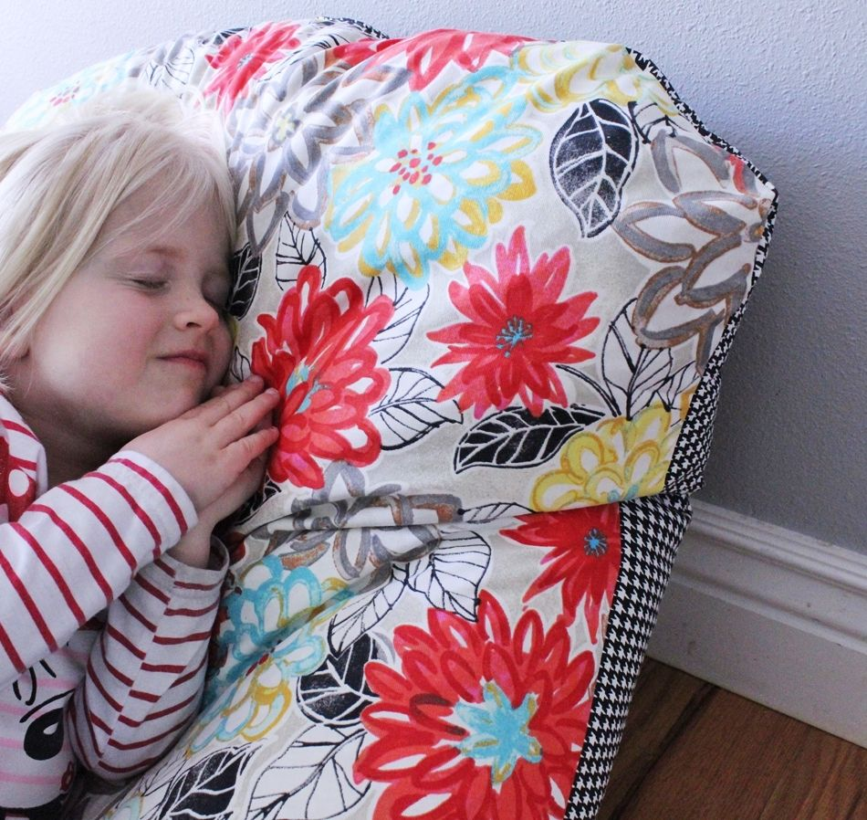 Super Simple DIY Kids Bean Bag Chair: A Step By Step Tutorial