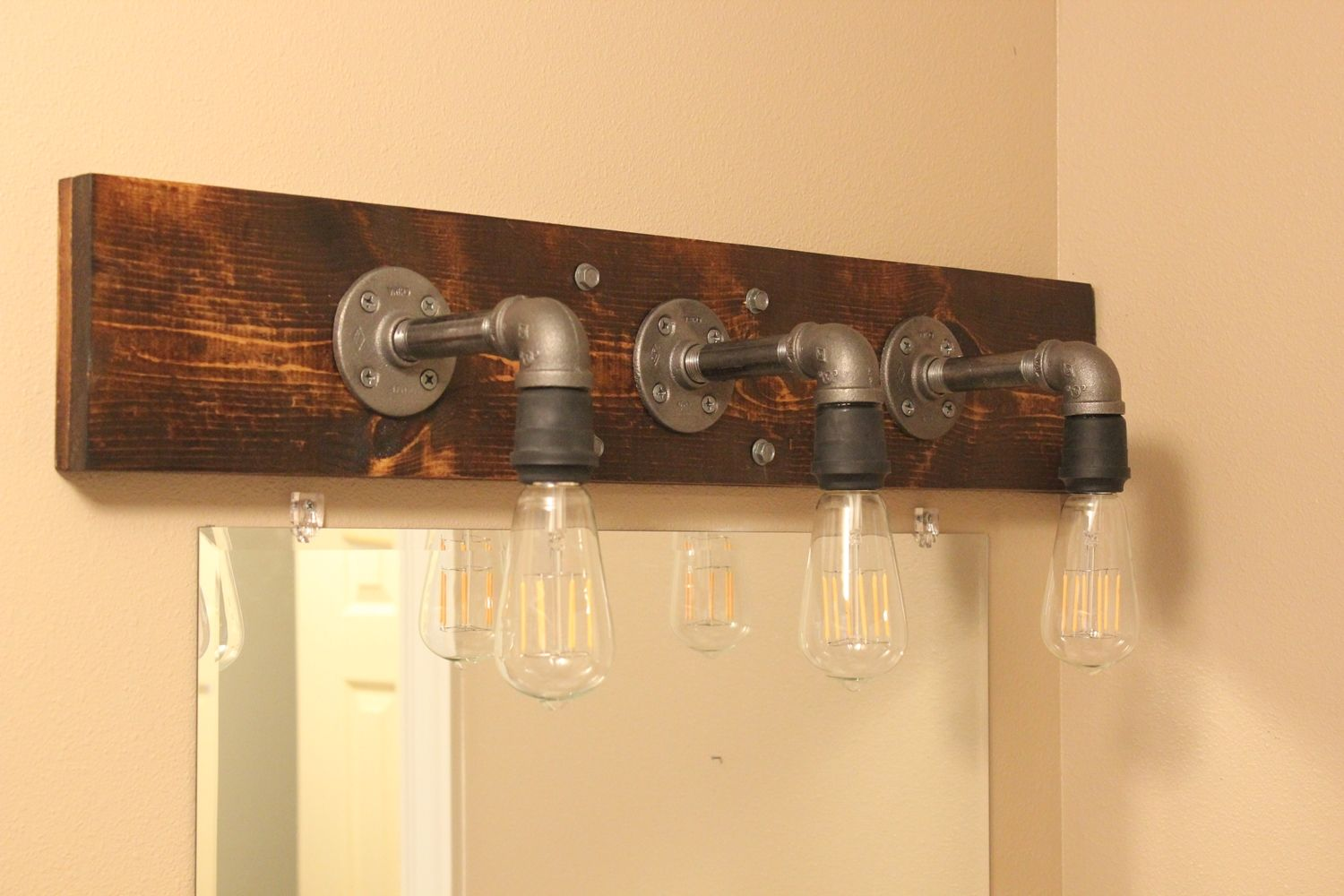 Bathroom Vanity Mason Jar Light diy industrial bathroom light fixtures