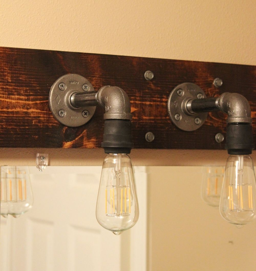 Diy industrial bathroom light fixtures aloadofball Gallery