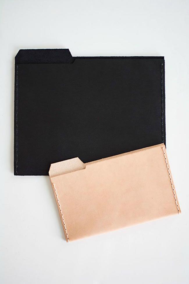 diy leather folders