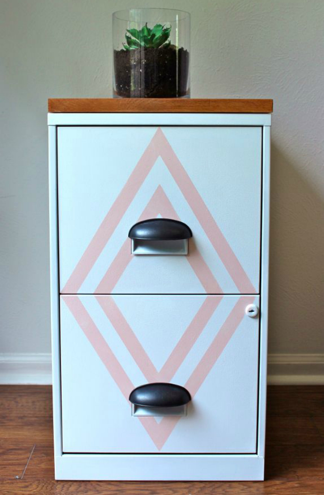 diy painted cabinet