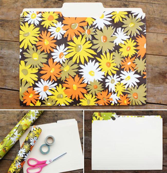 diy wallpaper folders