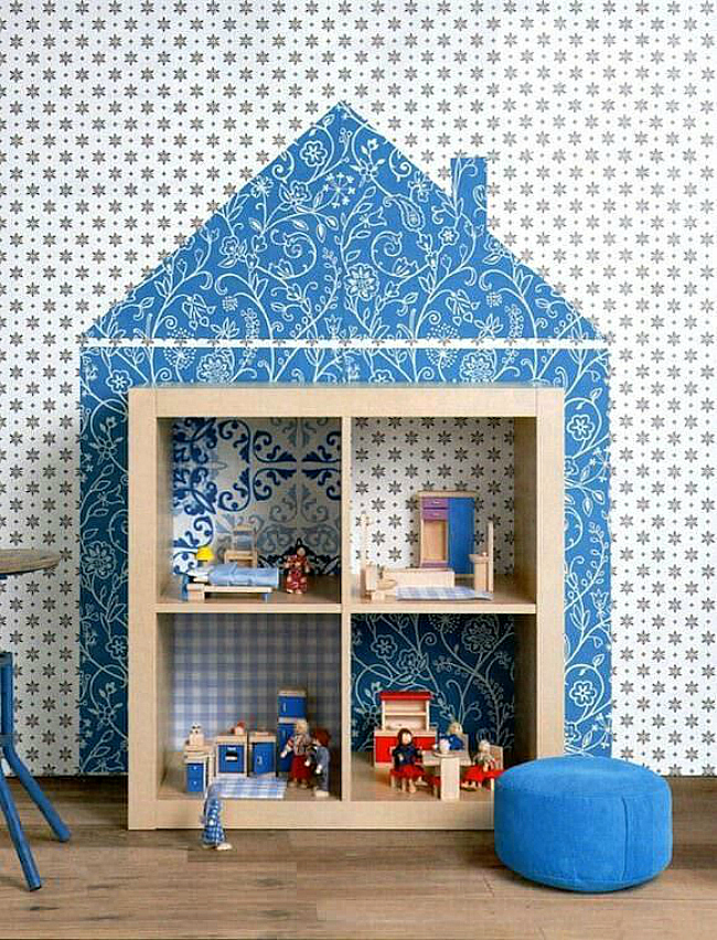dollhouse shelves hack