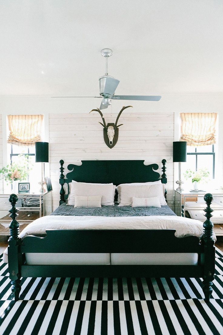 Farmhouse Master Bedroom Metal Bed