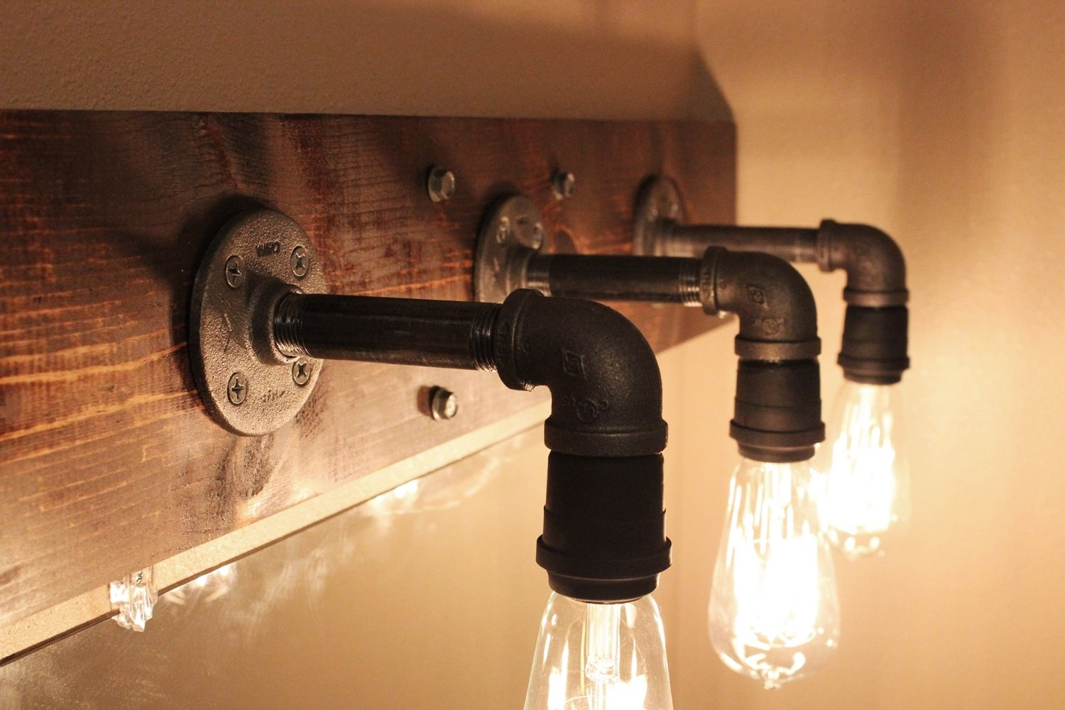 Bathroom Light Fixtures With Edison Bulbs diy industrial bathroom light fixtures