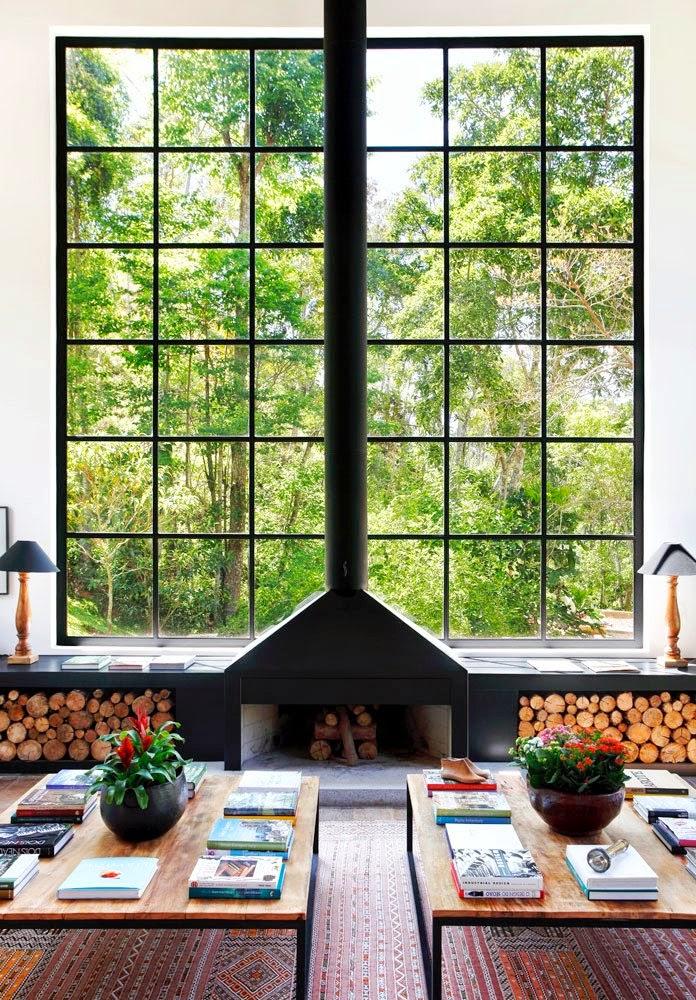 fireplace windows. Window as Fireplace  Feature Wall 20 Nature Loving Ideas