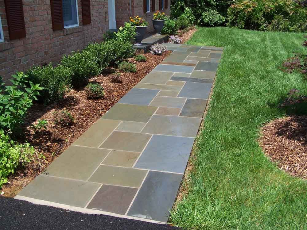 Gorgeous stone walkways to add your home for Landscaping ideas stone path