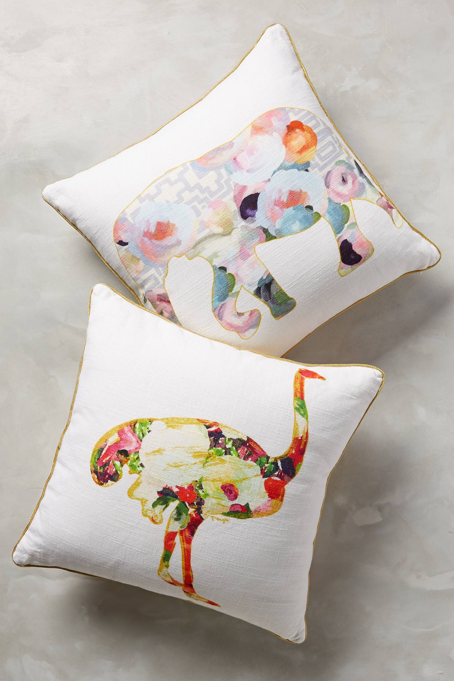 floral animals pillows