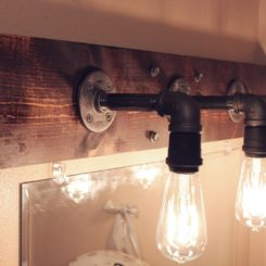 Diy Led Bathroom Lighting how to mount a light on top of a mirror bathroom vanity