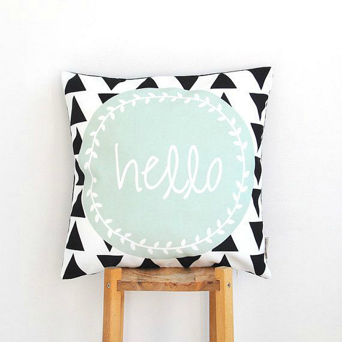 geo hello pillow
