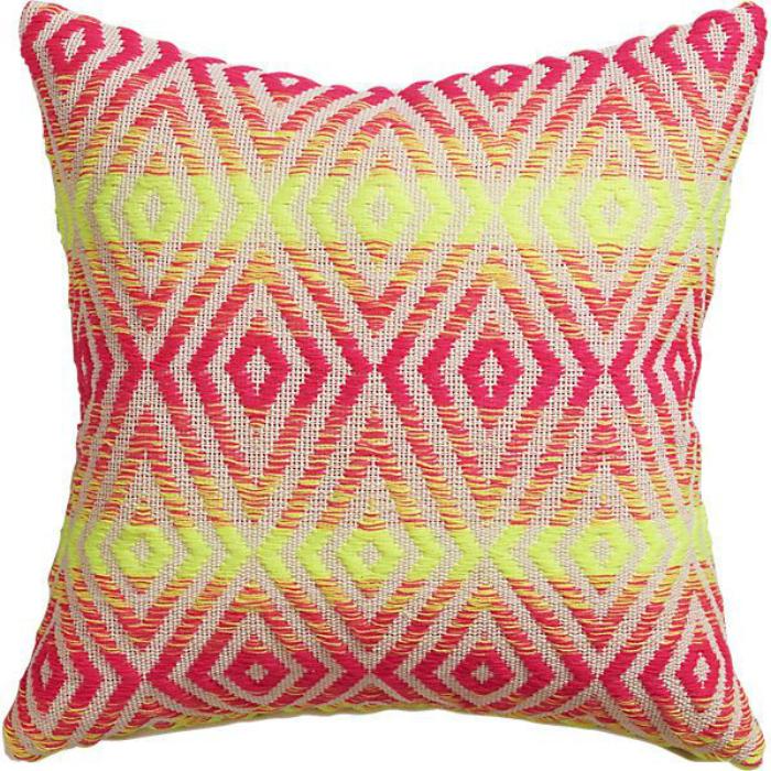 geo neon pillow