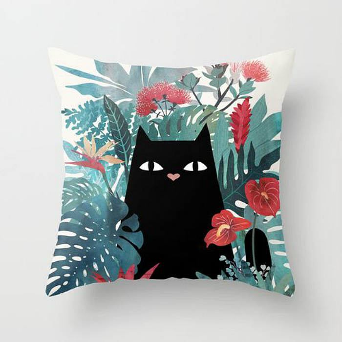 jungle cat pillow