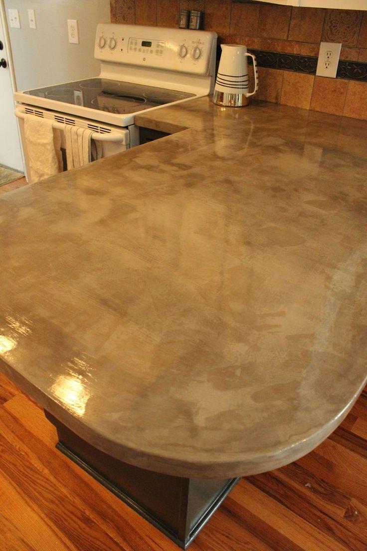 kitchen concrete counters