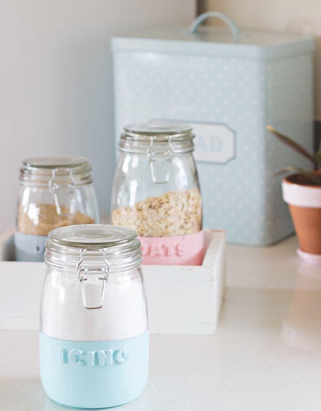 kitchen dipped jars