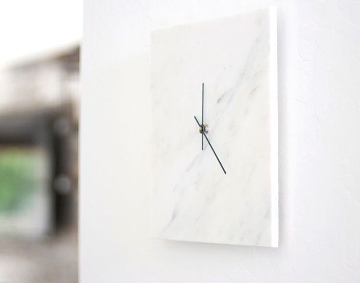 kitchen marble clock