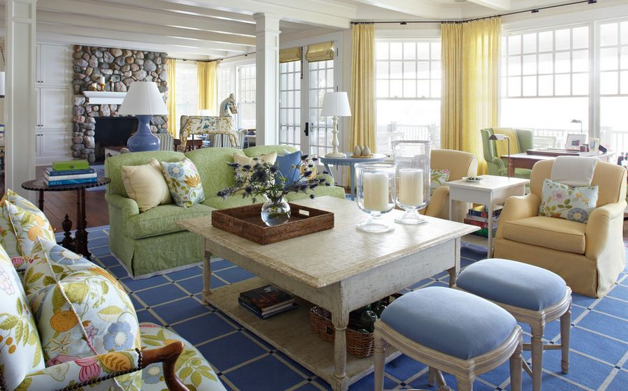 ... View In Gallery Yellow Is A Perfect Color For A Summer Décor And The  Curtains ... Part 47