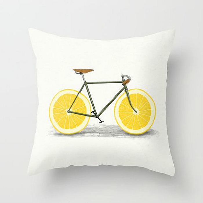 orange bike pillow