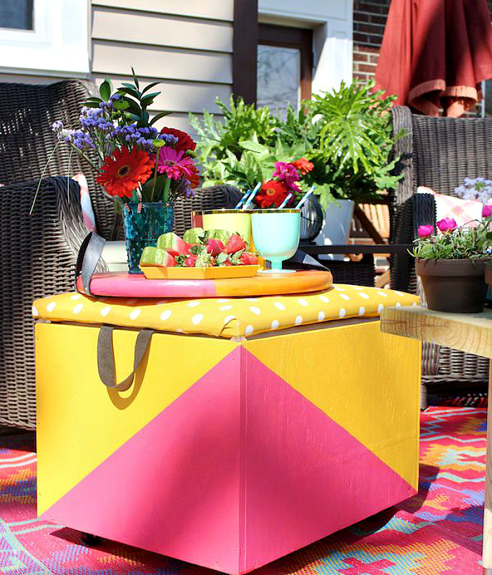 outdoor ottoman cooler