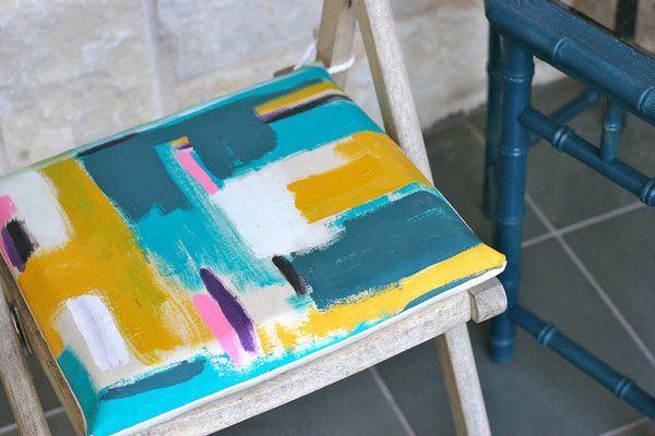 outdoor painted cushions