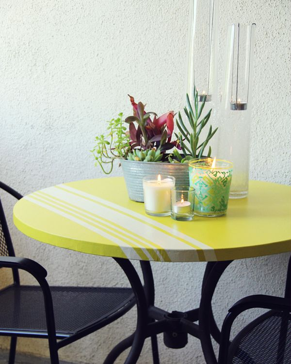 outdoor painted table