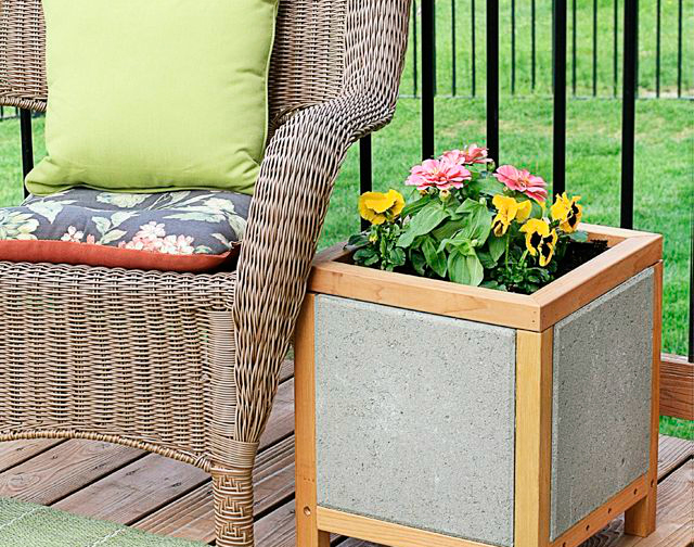 outdoor paver planter