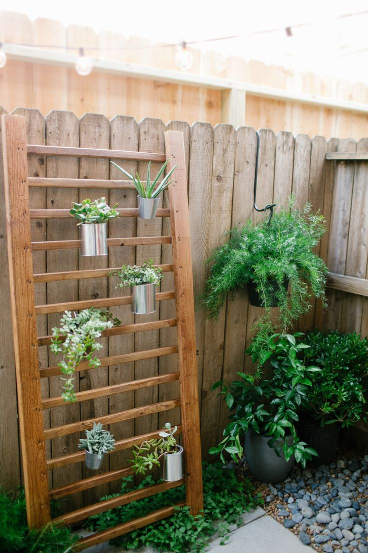 outdoor plant ladder