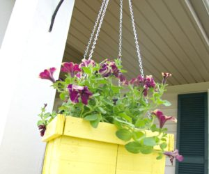 DIY Wood Pallet Hanging Planter