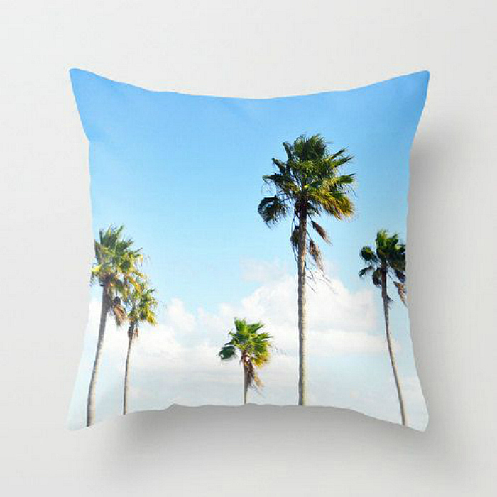 palm tree pillow