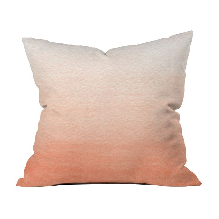 peach ombre pillow