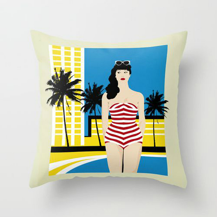retro pool pillow