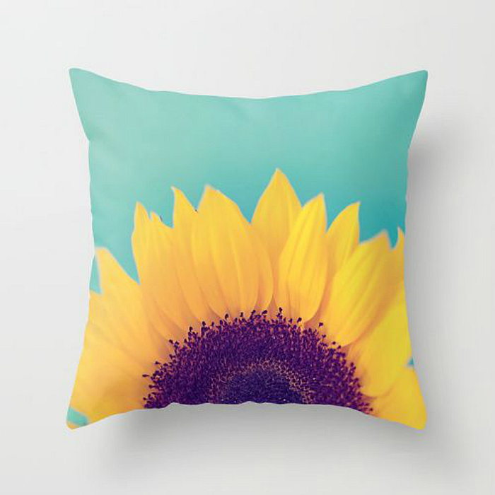 sunflower pillow
