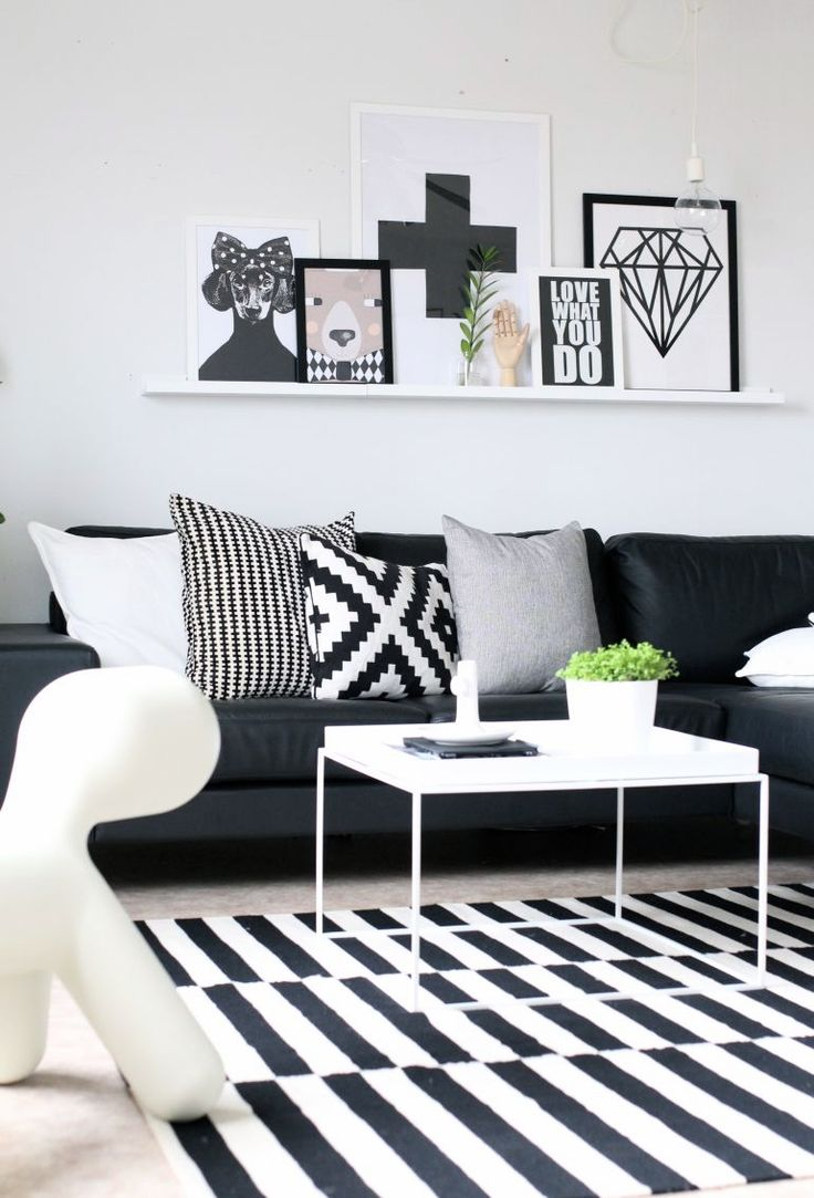 Merveilleux How To Enhance A Décor With A Black And White Striped Rug