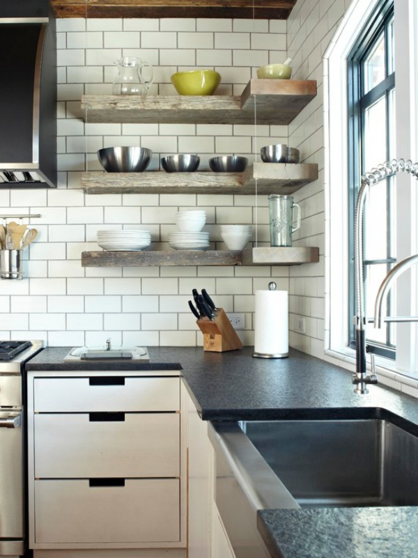How To Style Your Corner Shelving Systems Rh Homedit Com Open Corner Shelves  For Kitchen Plastic