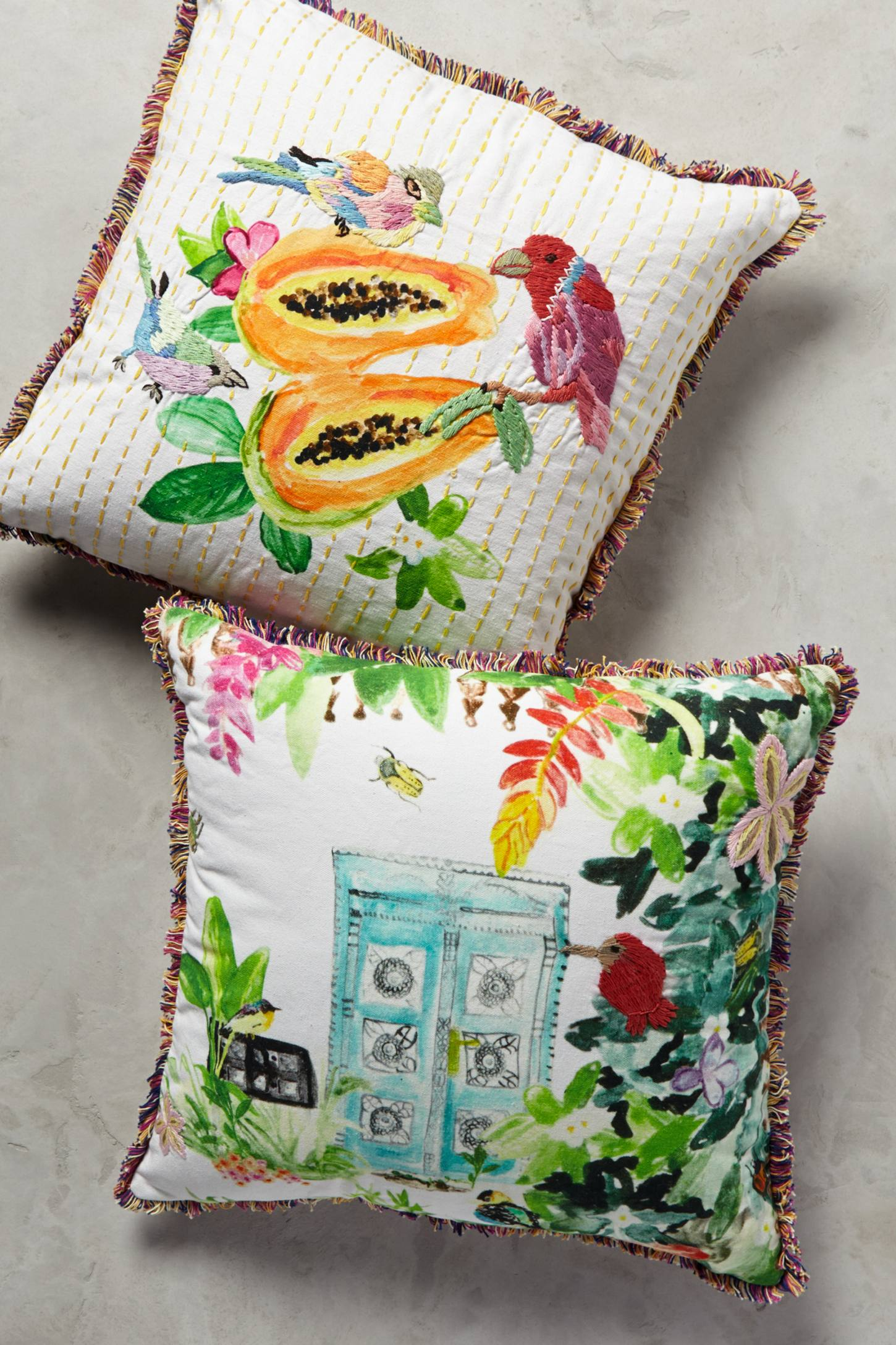 tropical island pillows