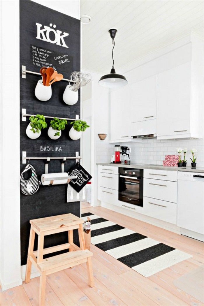 white chalkboard kitchen