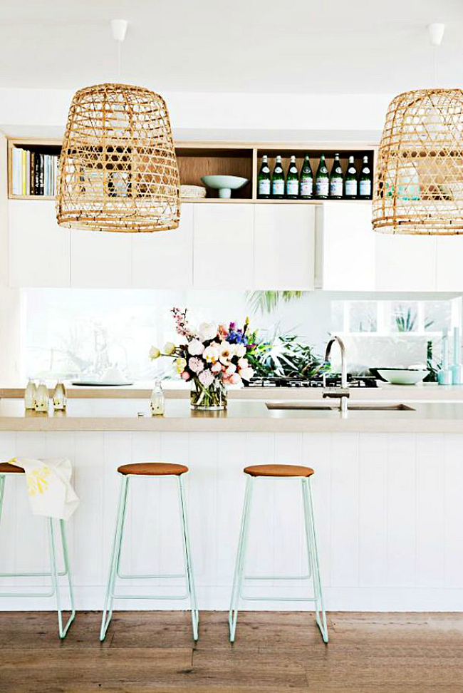white statement lights