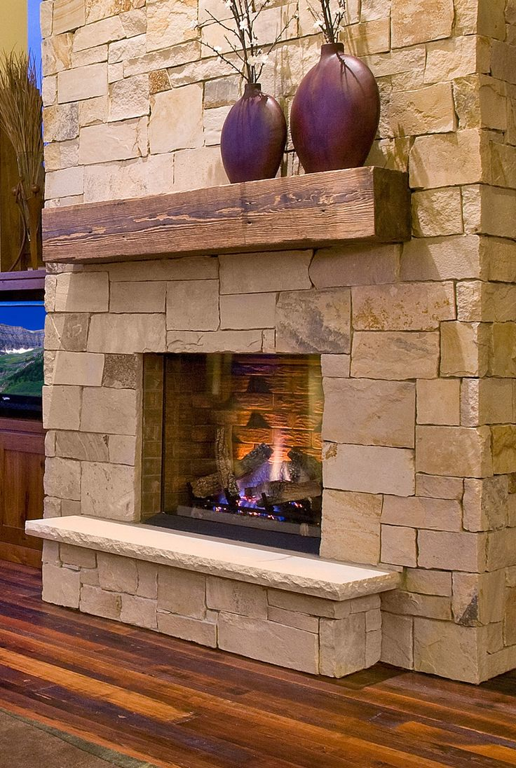 Wood  Stone Fireplace 20 Nature Loving Ideas
