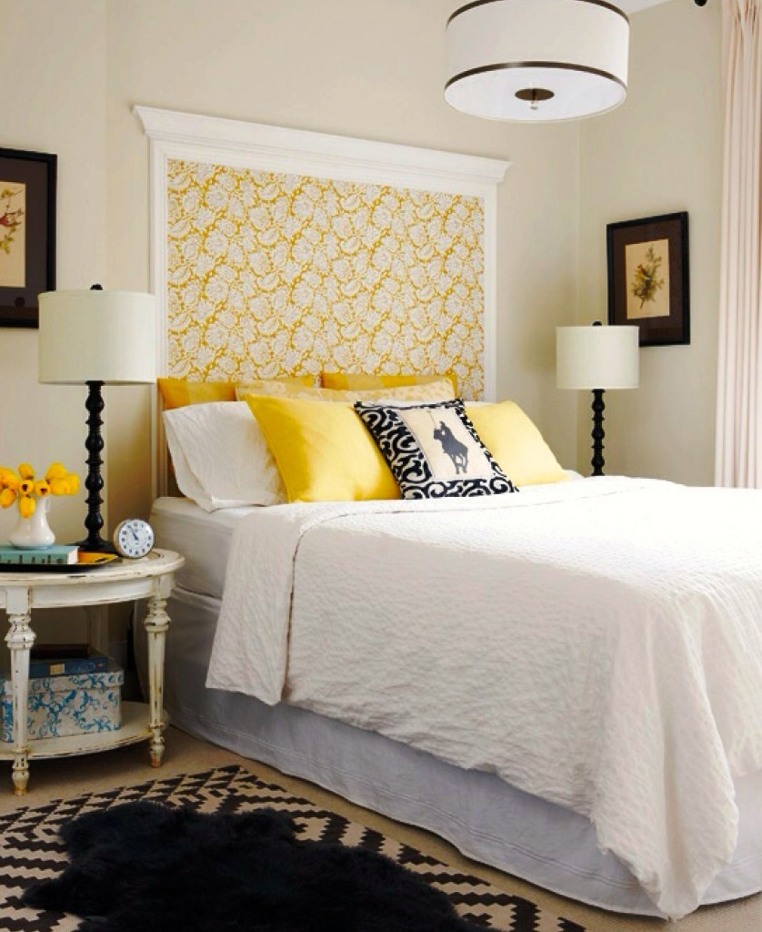 10 fabric headboard ideas for your bedroom for Headboard patterns