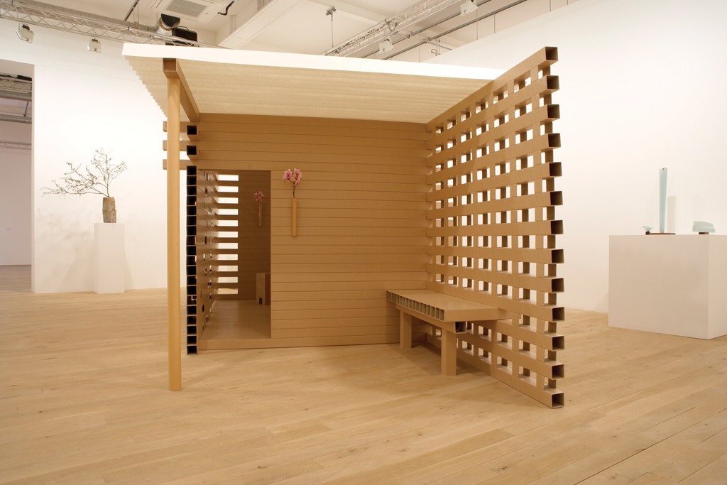 Cardboard-tea-house-waiting-area