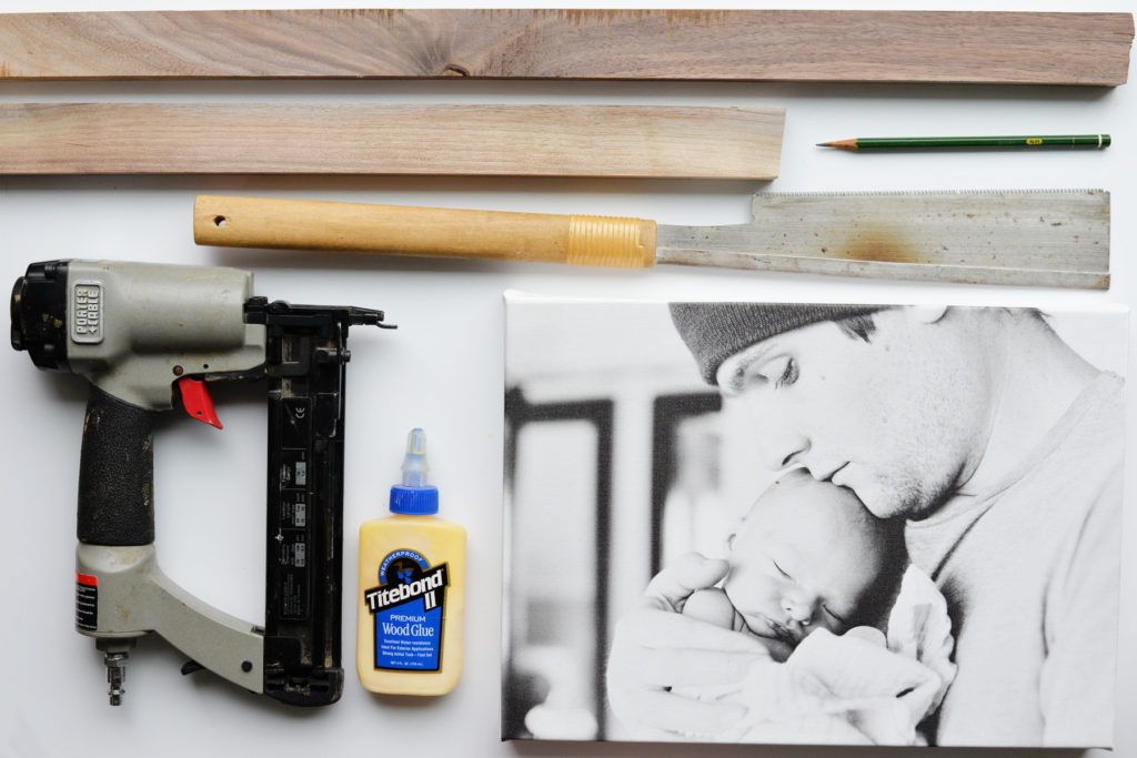 DIY Walnut Canvas frame supplies