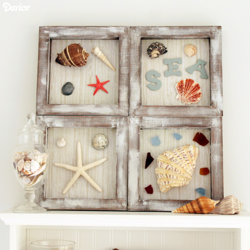 Seashell crafts that bring the beach into your home for Coastal wall decor ideas
