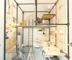 14 Sqm Architecture Office Featuring An Internal Pipe Structure