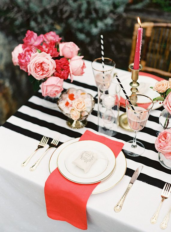 Valentines Day Table Decor View In Gallery Black And White