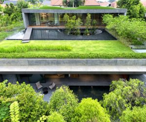 Two Houses Blend Into One Through Green Design