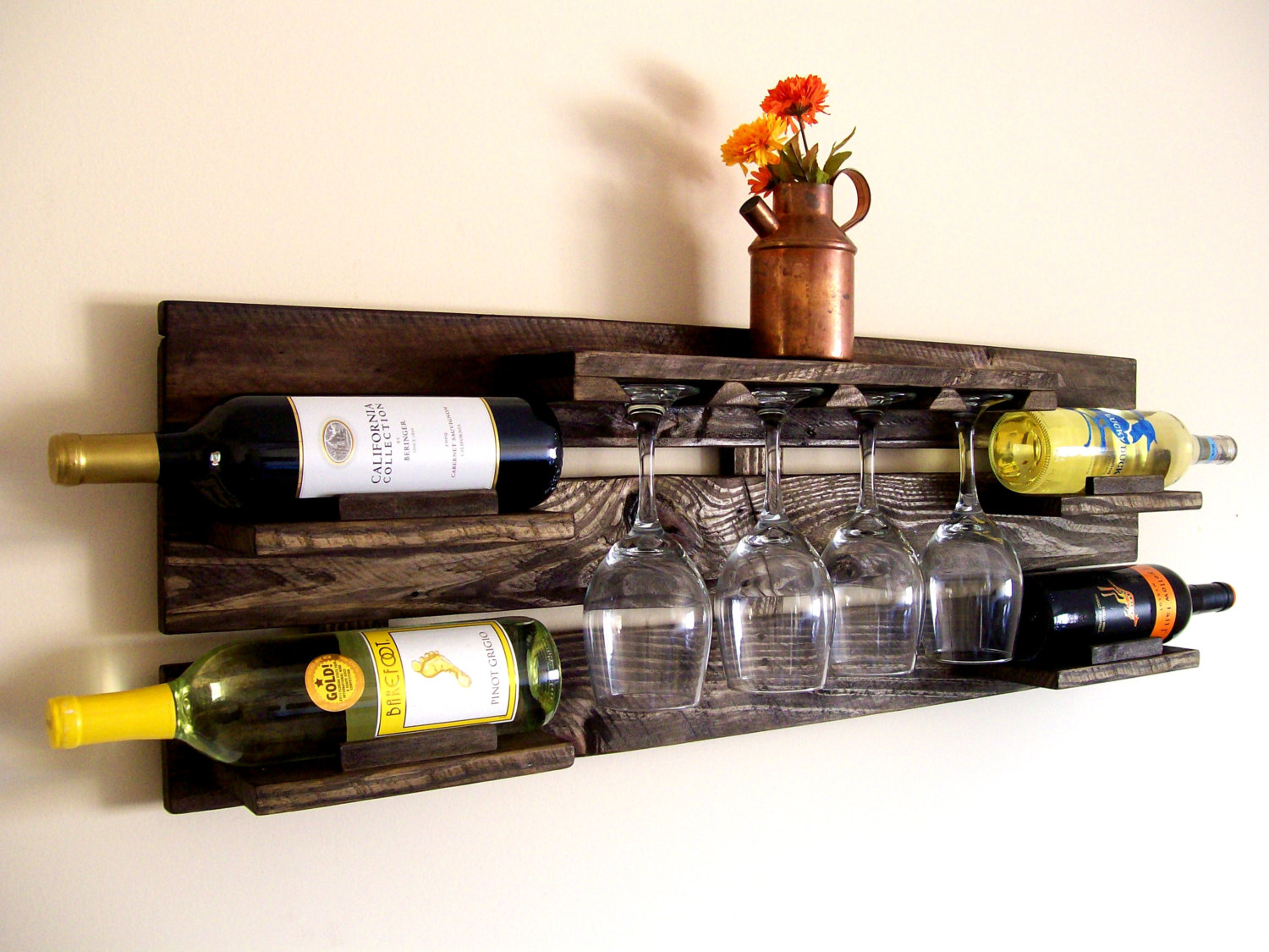 Another Rustic Wine Pallet Rack