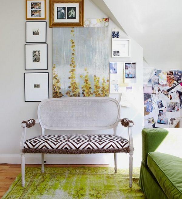 Dachboden-mit-grün-overdyed-Teppich