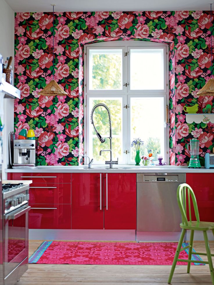 Pink Kitchen Walls 20 colors that jive well with red rooms